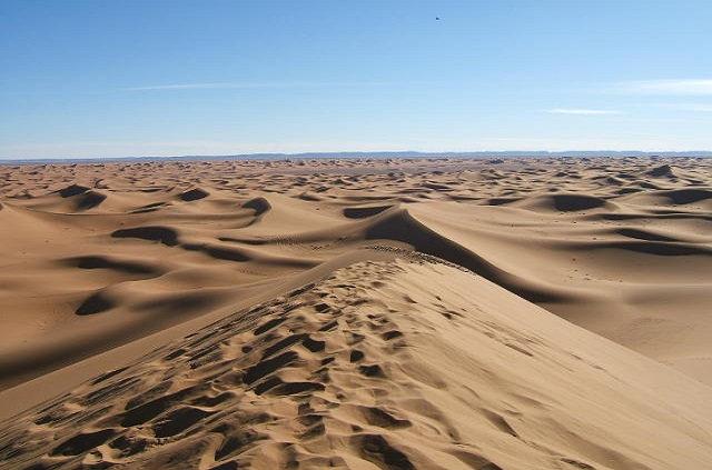 Les dunes de Chegaga dans le désert du Maroc