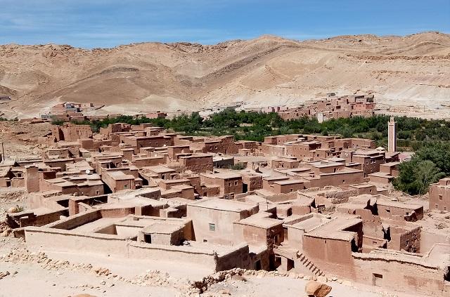 Village de la vallée de l'Ounia région Ouarzazate
