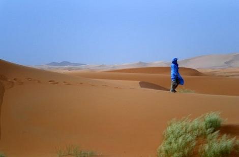 Touareg dans le désert marocain