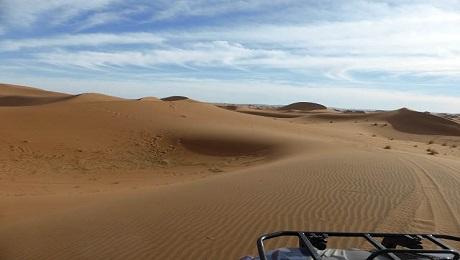 Circuit quad dans le désert du Maroc