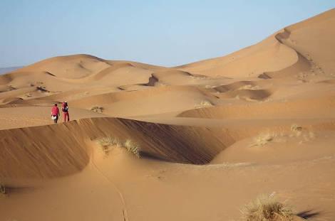 Balade dans les dunes de Merzouga