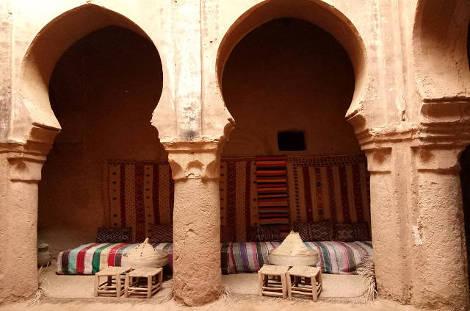 Intérieur d'une Kasbah du sud marocain