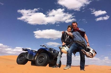 Quad dans le désert marocain