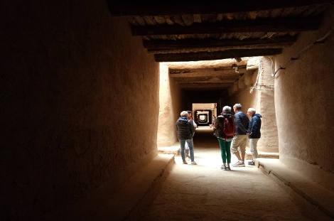 Ruelle couverte village du sud marocain