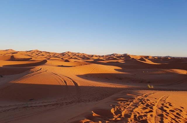 Coucher de soleil désert Maroc
