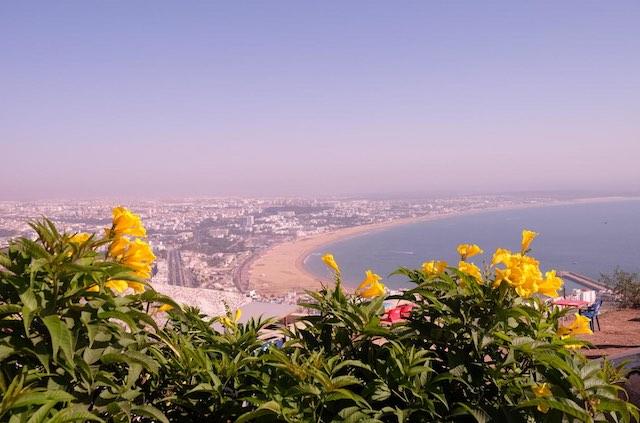 Vue sur corniche Agadir
