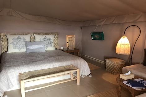 Intérieur lodge désert d'Agafay